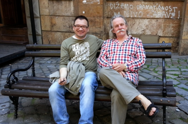 Alan Holley with Ivan Kirn in Belgrade May 2014