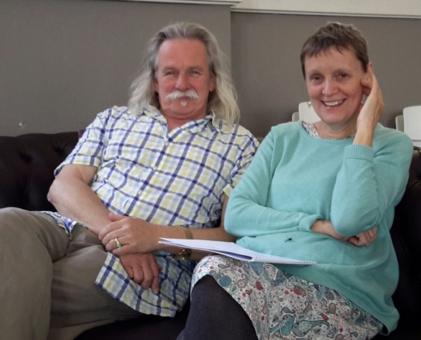 Alan Holley with Melbourne composer Eve Duncan
