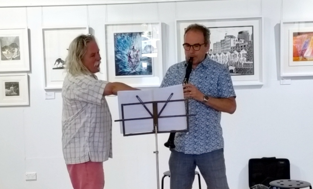 Alan Holley with Richard Rourke at Creative Space