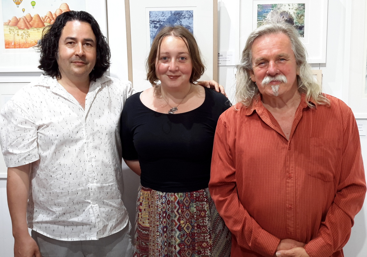Andrian Pertout, Harriet Channon and Alan Holley